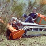 1978_Ralf Zimmermann auf einer der ersten Mähraupen RM 40