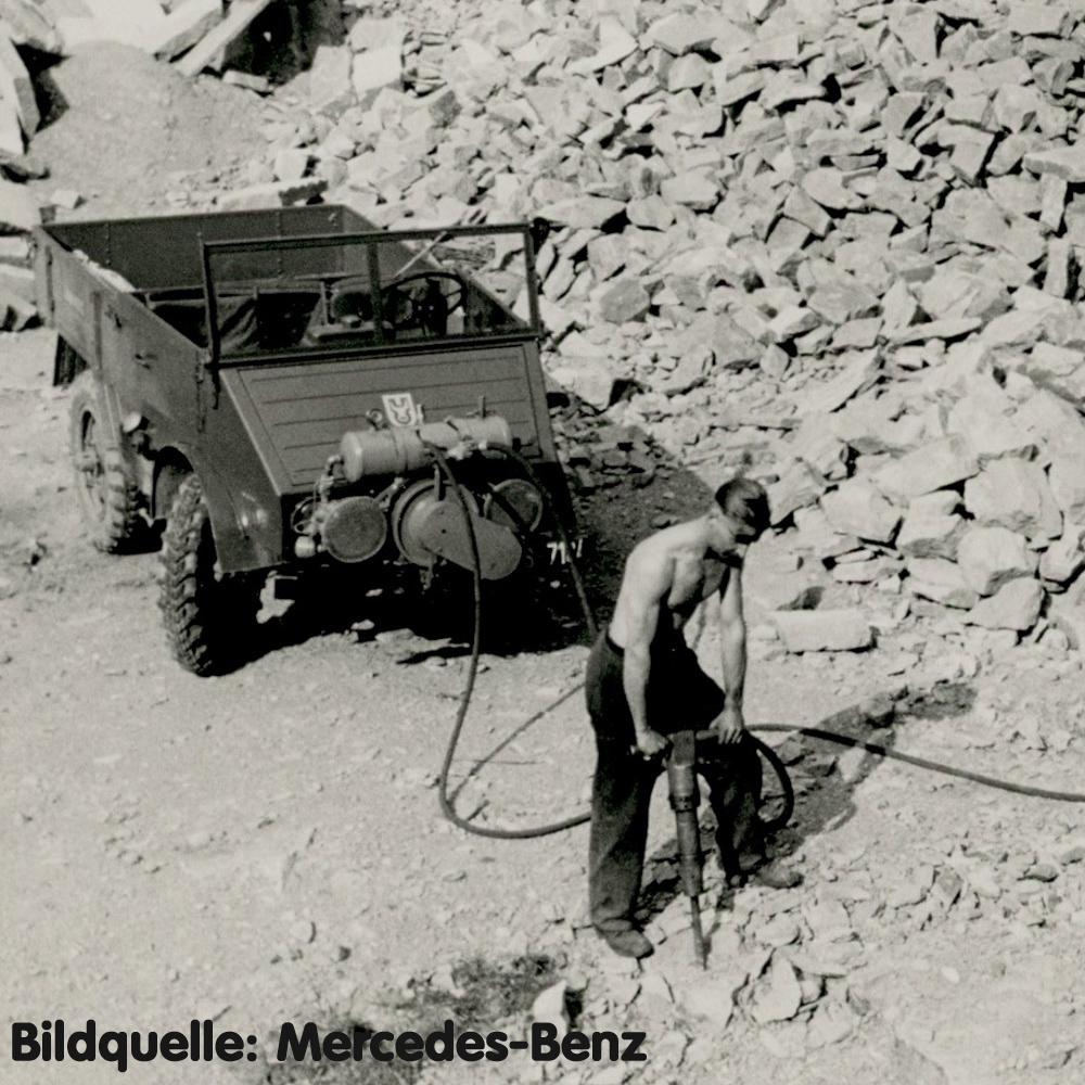 Unimog im Steinbruch